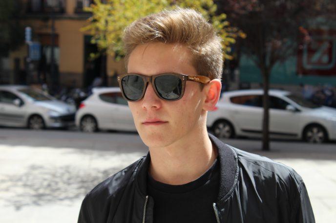 Gafas de sol madera zebrano