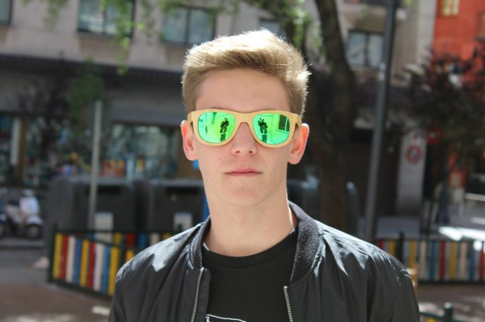 Gafas de sol bambú