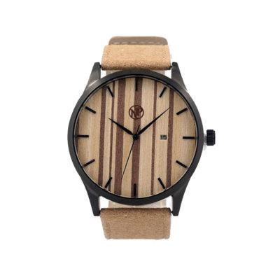 reloj de madera de bambu pegasus