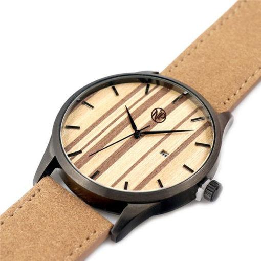 reloj madera bambu pegasus oblicuo