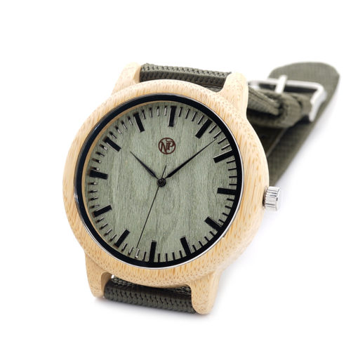 reloj madera bambu finisterre acostado