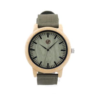reloj madera bambu finisterre frontal