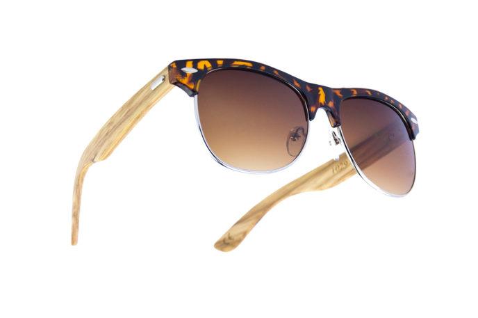 Gafas de sol cala leopardo arriba