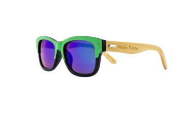 lentes verde azuladas diseño vintage